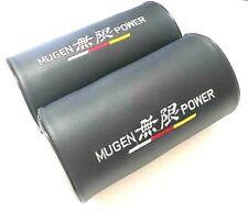 2Pcs Mugen Power PVC Leather Embroidery Car Seat Neck Cushion Pillow Headrest
