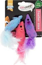 Good Girl Cat Kitten Feather Mice with Catnip Play Toy Game 3pk