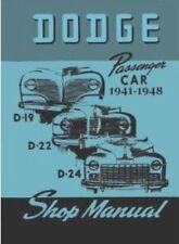 Factory Shop - Service Manual for 1941-1948 Dodge Passenger Cars