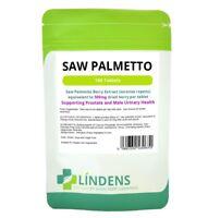 Lindens Extrait de Palmier Nain 500mg 100 Comprimés Serenoa Repens Saw Palmetto