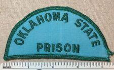 Vintage OKLAHOMA STATE PRISON Twill Embroidered Uniform PATCH Shoulder Badge OK