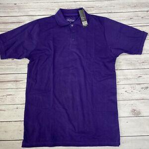 Galaxy by Harvic Men's Polo Shirt Grape Purple Size M New Basic Uniform