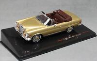 IXO Mercedes-Benz 280SE 3.5 W111 Cabriolet in Gold 1969 CLC315N 1/43 NEW
