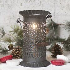 Prairie new electric Wax Warmer with Chisel in Black Punched Tin