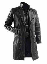 DEUS EX HUMAN REVOLUTION ADAM JENSEN MENS BLACK TRENCH COAT- JENSEN COAT - PAK