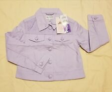 Jona Michelle Girls Twill Jacket Size Small 5/6 Lavender New With Tags