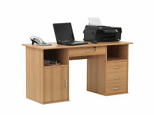 Alphason Office Texas Beech Computer Desk Workstation AW12289