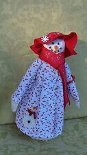 """13"""" Handmade Standing Snow Girl Shelf Sitter"""