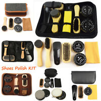 Deluxe Polish Shining Shoe Boot Care Leather Shine Cleaning Brushes Set Kit