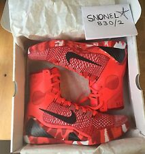 Nike Zoom KOBE IX 9 ELITE CHRISTMAS Xmas KNIT CRIMSON RED 630847-600 US 11.5
