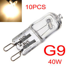 10pcs Bright G9 Halogen Capsule Light Bulb 40W Warm White Clear Lamp 12V-24V