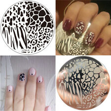 Nail Art Stamping Plates Image Plate Decoration Animal Print Leopard (YZWLE12)