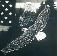 Montana American Flag Bald Eagle Souvenir t shirt XL animal bird tie dye 081719