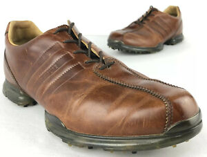 Adidas AdiPure Z Leather Golf Shoes Redwood Men's 8.5 EUR 42 Traxion Brown Lace