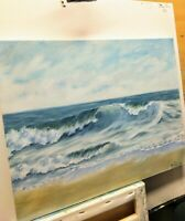 "Art oil painting 14""/18"" seascape, surf,ocean painting,waves, nature, realistic"