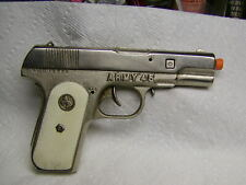 HUBLEY CAST IRON ARMY COLT 45 TOY CAP GUN --- NICE -- FULL WORKING