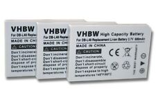 3x BATERIA para SANYO XACTI VPC-HD700 HD-700