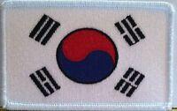 SOUTH KOREA FLAG PATCH With VELCRO® Brand Fastener KOREAN SEOUL Taegeukgi