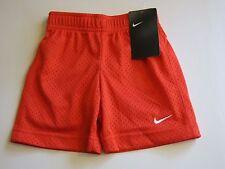 NWT Nike Boys 4T Orange Mesh Shorts Short Pants Summer Soccer Unisex