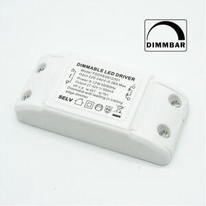 230V Led Dimmbarer Driver 9-12W 300mah DC TRIAC Dimmer Netzteil Treiber Trafo