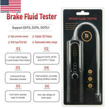 BF100 Car Brake Fluid Tester Auto Oil Inspection LED Detector For DOT3 DOT4 DOT5