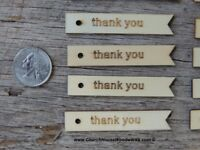 25 qty Thank You tags, 2.5 inch, wood thank you tags, gift tags, wedding, wooden