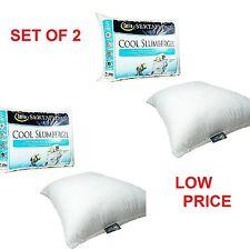 Standard Bed Pillows Set 2 Foam Cool Gel Hypoallergenic Pillows Slumber Sleep