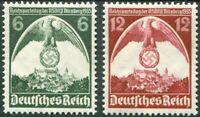 Deutsches Reich DR Nr. 586 - 587 ** postfrisch Reichsparteitag 1935 MNH