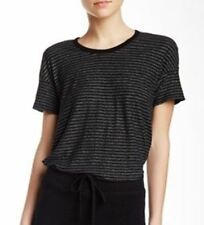 $115 JAMES PERSE Split Hem STRIPED TEE Shirt TOP Black / Grey WKT3275 ( 2 )