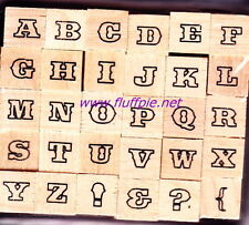TYPEFACE #42 - ALPHABET - Dovecraft - Wood Mounted Rubber Stamp Set