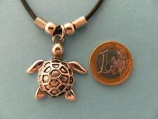 Kette Schildkröte 3,5cm Ketten Modeschmuck Anhänger Wasserschildkröte Edelstahl