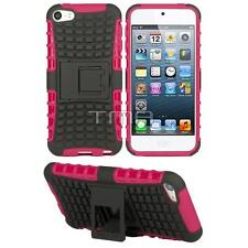 Fits iPod Touch 5 / 6 Case Rugged Impact Shockproof Hybrid Stand Cover  - Pink