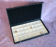 TEXTURED TOP 32 EARRING/JEWELRY DISPLAY CASE WHITE
