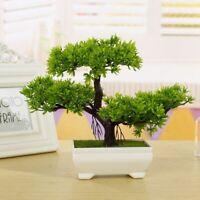 Pine Tree Flower Artificial Plant Bonsai Fake Green Plants Ornaments Home Decor