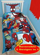 Funda Nordica reversible Spiderman Comic Thwip habitacion Niños Marvel Heroes 90