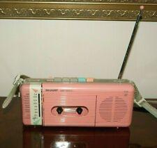 Vintage '80's Sharp Boombox AM/FM Radio Cassette Player Stranger Things QT-5(P)