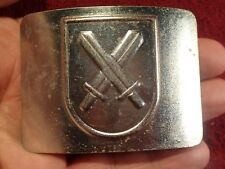 NICE early 1990-s HEAVY METAL MILITARY BELT BUCKLE with SWORDS ESTONIA ESTONIAN