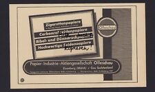 EISENBERG, Werbung 1941, Papier-Industrie-AG OLLESCHAU