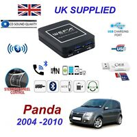 For Fiat Panda Bluetooth Telephone Streaming AUX Input 2 x USB SD Card Reader