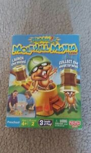Fisher Price Molehill Mania family kids board Game