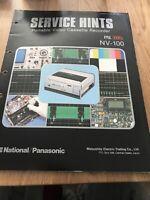 panasonic NV-100 service Hints  For Video Cassette Recorder