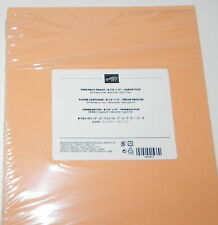 Lot Of Peekaboo Peach 80 Lb Stampin Up 8.5 X 11 Card Stock Paper 10 Sheets