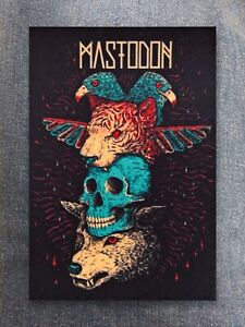 Mastodon patch sew on printed textile patch rock sludge metal groove heavy metal