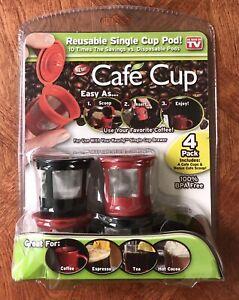 Cafe Cup Mesh Reusable Single Pod Keurig Coffee Maker box