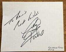 Blues Singer Georgie Fame Autograph Album Page In-Person with Place & Date