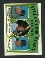 1972 Topps #79 Mike Garman/Cecil Cooper/Carlton Fisk EXMT/EXMT+ RC Rookie Red So