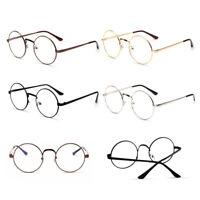 monture de lunette Ronde Métal Cadre lentille Vintage Rétro Mode optique