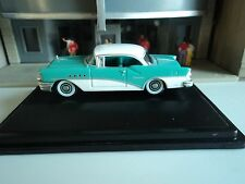 Oxford  1955  BUICK CENTURY  Turquoise and White  1/87   HO  diecast car     GM