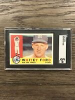 1960 Topps Whitey Ford SGC 5 Yankees #35