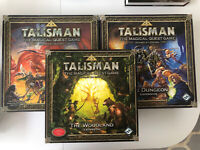 Talisman Board Game Revised 4th ed + 5 Expansions - Dungeon Woodland Frostmarch